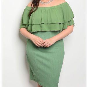 Dresses & Skirts - Green Plus Size Dress